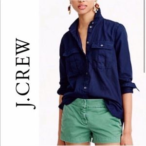 J. Crew Green Chino Shorts
